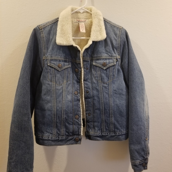 Denim & Sherpa Collar Jacket